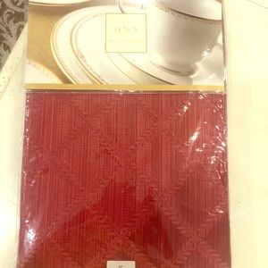 Lenox NWT red 90in round tablecloth